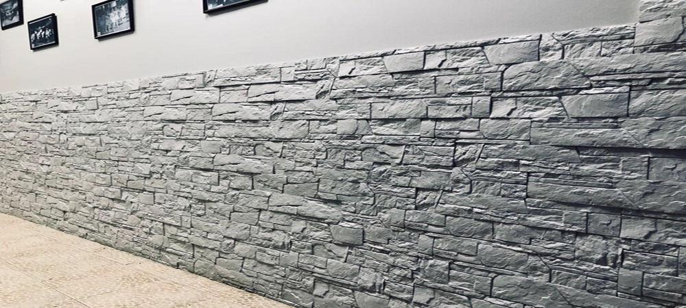 Стена с отделкой декоративным камнем