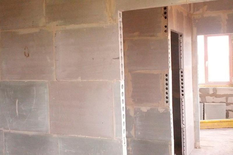 Строительство стен из ПГП